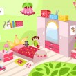 Girls room — Stock Vector