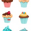 Muffins set — Stock Vector