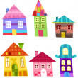 Houses set — Image vectorielle