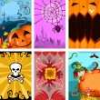 Stock Vector: Halloween cards
