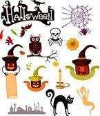 Conjunto de halloween — Vetorial Stock