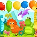 Dinosauers — Stock Vector #40982711