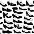 Shoes illustration set — Stock Vector