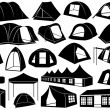 Stock Vector: Set of tents