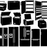 Set of different refrigerators — Stock Vector