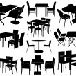 Illustration of tables and chairs — Wektor stockowy  #13977532