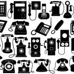 Phone set — Stock Vector