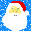 Stock Vector: Face of Santa Claus