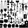 Set of religious elements — Stock Vector #21130555
