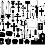 Set of religious elements — Stock Vector