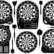 Set Of Electronic Dartboards - Image vectorielle
