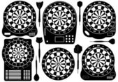 Set Of Electronic Dartboards — Stock Vector