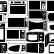 Set of microwave ovens - Stock Vector