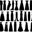 Set of dresses - Stock Vector