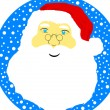 Face of Santa Claus — Stock Vector