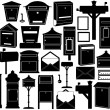 Set of different mailboxes — Stock Vector