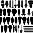 lampen set — Stockvector