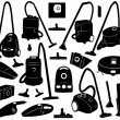 Set of different vacuum cleaners — Stock Vector