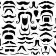 Set of different mustaches — Stock Vector