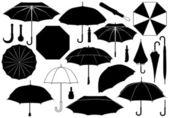 Set di ombrelli di diverse — Vettoriale Stock