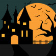 Illustration Of A Halloween Castle — Stock Vector