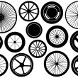 Set Of Different Wheels — Stock Vector