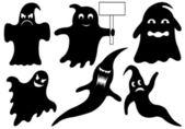 Set di diversi fantasmi — Vettoriale Stock