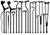 Reihe von verschiedenen stöcke — Stockvektor
