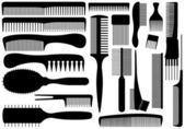 Set Of Different Combs — Stock Vector