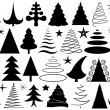 Set of different Christmas trees — Imagen vectorial