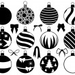 Set of different Christmas decorations — Stock Vector