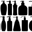 Set of different liquid soaps — Stock Vector