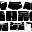 Set of different shorts — Stock Vector