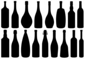 Set of different glass bottles — Vettoriale Stock