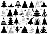 Set of different Christmas trees — Stock Vector