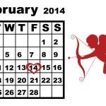 February Calendar 2014 — Stock Vector #37538301
