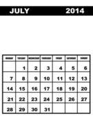 July calendar 2014 — Stockvector
