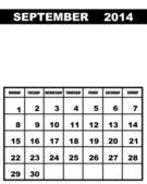 September calendar 2014 — Stockvector