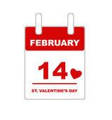 Valentine's Day calendar — Stok Vektör