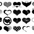 Set of different hearts — Stock Vector #41046479
