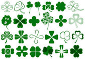 Set of different clovers set — Stock Vector