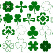 Set of different clovers set — Stock Vector #46225981