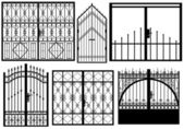 Set of different gates — Stock Vector