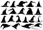 набор различных ведьма шляпы — Cтоковый вектор