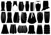別のスカートのセット — ストックベクタ