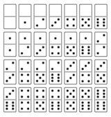 домино — Cтоковый вектор