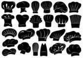 Set di cappelli diversi chef — Vettoriale Stock