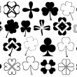 Set of different clovers set — Stock Vector #47379951