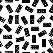 Seamless domino background — Stock Vector