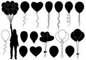 Farklı balon seti — Vettoriale Stock